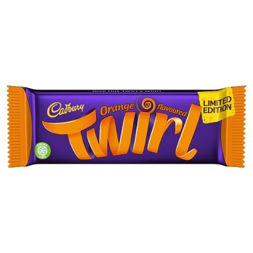 Cadbury Twirl Orange Chocolate Bar 43g (UK)